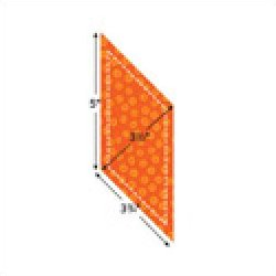 Accuquilt Go! Cutting Die Geometric Parallelogram 3 11/16 x 4 15/16 Sides (3 x 4 1/4 finished) 55004