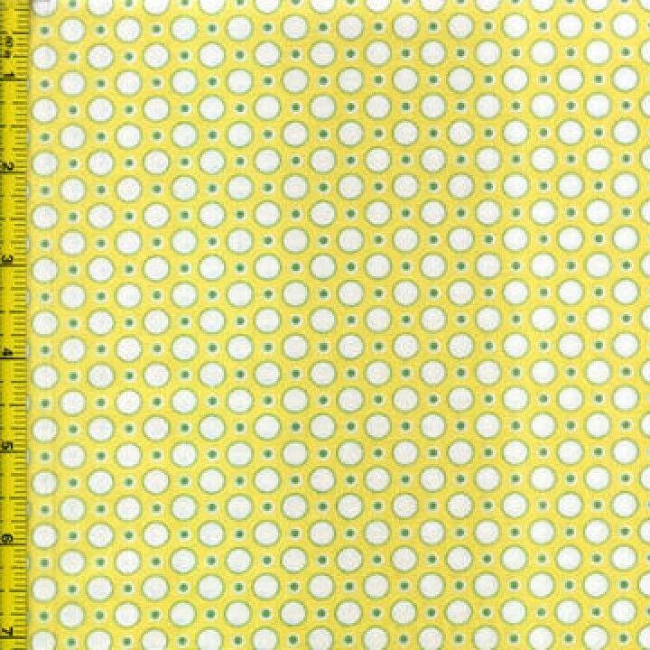 Fabric Cotton KAREN SNYDER ANNA LENA 5269 YELLOW LIME REPRODUCTION FABRIC1930's TIMELESS TREASURES