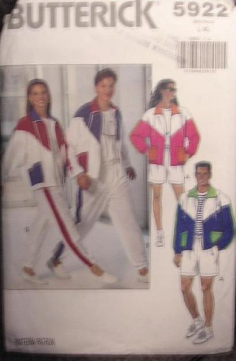 UNISEX OUTFIT EXERCISE PATTERN Butterick 5922  SZ XS-M