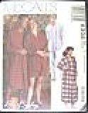 UNISEX PATTERN Pajamas Nightshirt McCalls 6306 Mens Misses SIZES SM-L
