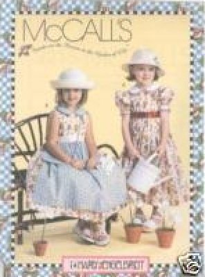 GIRLS DRESS PATTERN McCalls 3215 Mary Engelbreit Dress & Purse 345