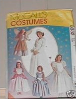 COSTUME PATTERN STORY BOOK DRESSES McCall 8332 TODDLER'S SIZE 2-4