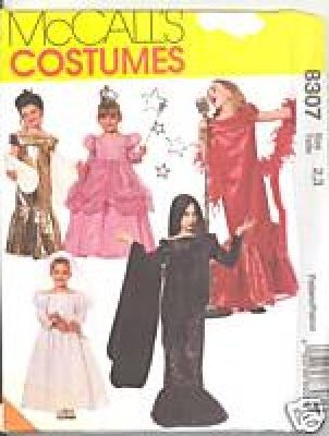 COSTUME PATTERN GLAMOUR DRESSES McCall's 8307 CLASSIC TODDLER SIZES 2-3