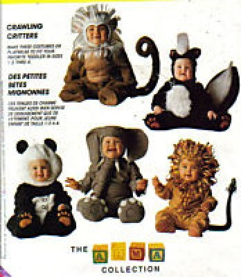COSTUME PATTERN CRITTERS McCall 7169 TODDLER'S Size 3