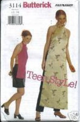 TEEN OUTFIT PATTERN Butterick 3114 Teen Style Tunic~Skirt~Pants 9~14