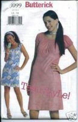JUNIORS DRESS PATTERN Butterick 3099 CLASSIC Junior's Dress  SIZES 9/10-13/14