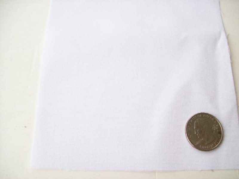 Fabric Broadcloth Solid WHITE Lightweight 44/45