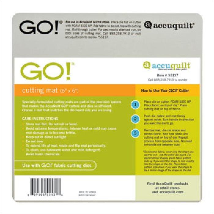 ACCUQUILT GO! Cutting Mat 55137 6 INCH x 6 INCH