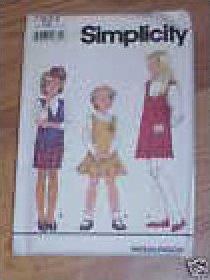 GIRLS CHILD JUMPER PATTERN SIMPLICITY 7933 GIRLS SIZES 7-12