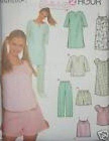 PAJAMAS NIGHT SHIRT PATTERN SIMPLICITY 9505 2 HOUR Sewing Pattern SIZES EXTRA SMALL TO MEDIUM