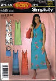 Sewing Pattern MISSES SO EASY DRESS AND BAG PATTERN SIMPLICITY 4649 SIZES 10-22