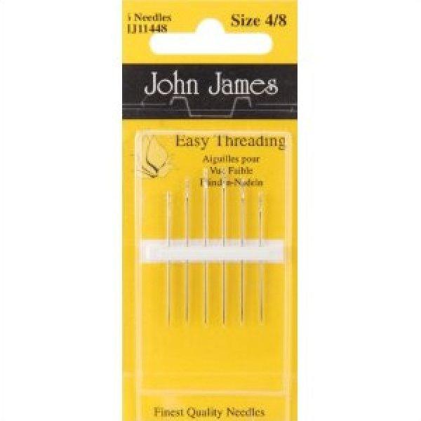 Needles John James Easy Threading Hand Needles-Size 4/8 6/Pkg