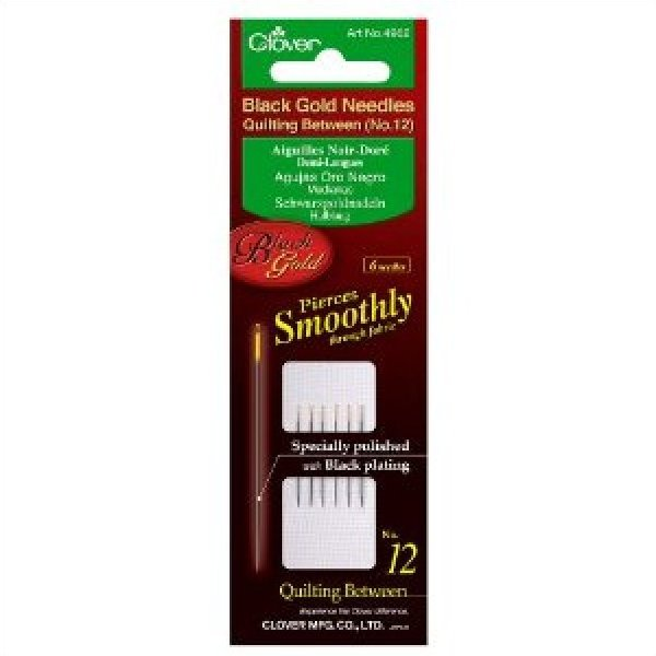 Black Gold Quilting Needle size 10 six per pack