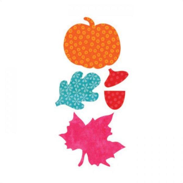 Rental Die ACCUQUILT GO! Die Fall Medley Pumpkins and Leaves 55041