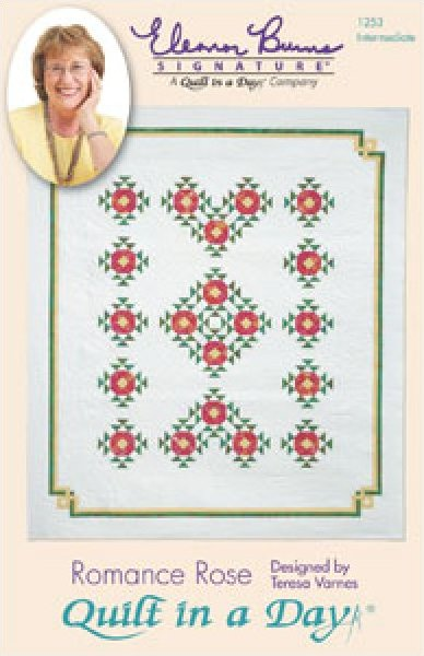 Quilt in a Day Quilt Pattern Romance Rose: Eleanor Burns Signature Quilt Pattern