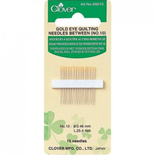 Size 10 15/Pkg Gold Eye Quilting Between Needles