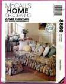 Pattern Cover Essentials Pattern Ruffled Sofa Chair McCall 8660