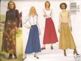Misses Skirt Sewing Pattern Butterick 3262 M/MP Skirts 8 10 12
