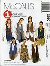 McCalls 2260 One Hour Vest Pattern Unlined in Two Lengths Size Extra Large 20-22