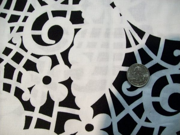 Fabric Cotton Quilt Butterflies on trellis Black background with white fabric