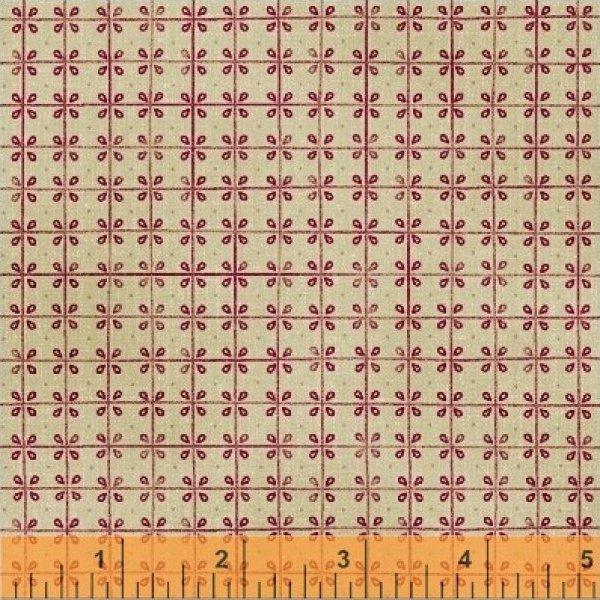 Fabric Cotton Williamsburg Randolph Presents by Windham Fabrics Red Floral Plaid