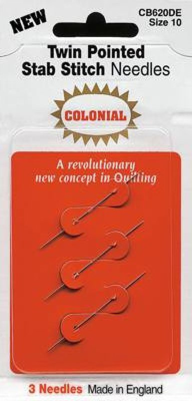 Colonial Twin Pointed Stab Stitch Needles
