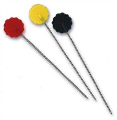Notions Quilting Pins Flower Head Pins 75 ct 2 inch Multi Color