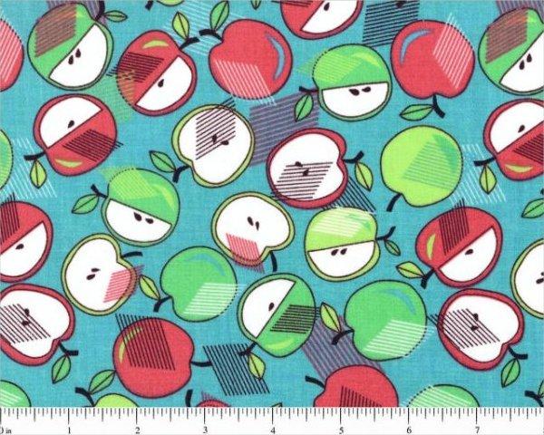 Remnant 10 WOF Tutti Frutti Apples by Choice Fabrics 44/45'' 100% Cotton