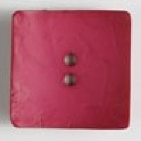 Dill Buttons 60mm (1.75 inch) large square nesting polyamid buttons color dark pink