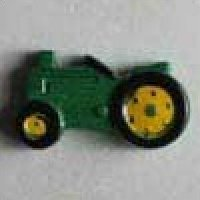 Dill Buttons Green Tractor novelty button - Size: 25mm - Color: green - Art.-Nr.: 340620