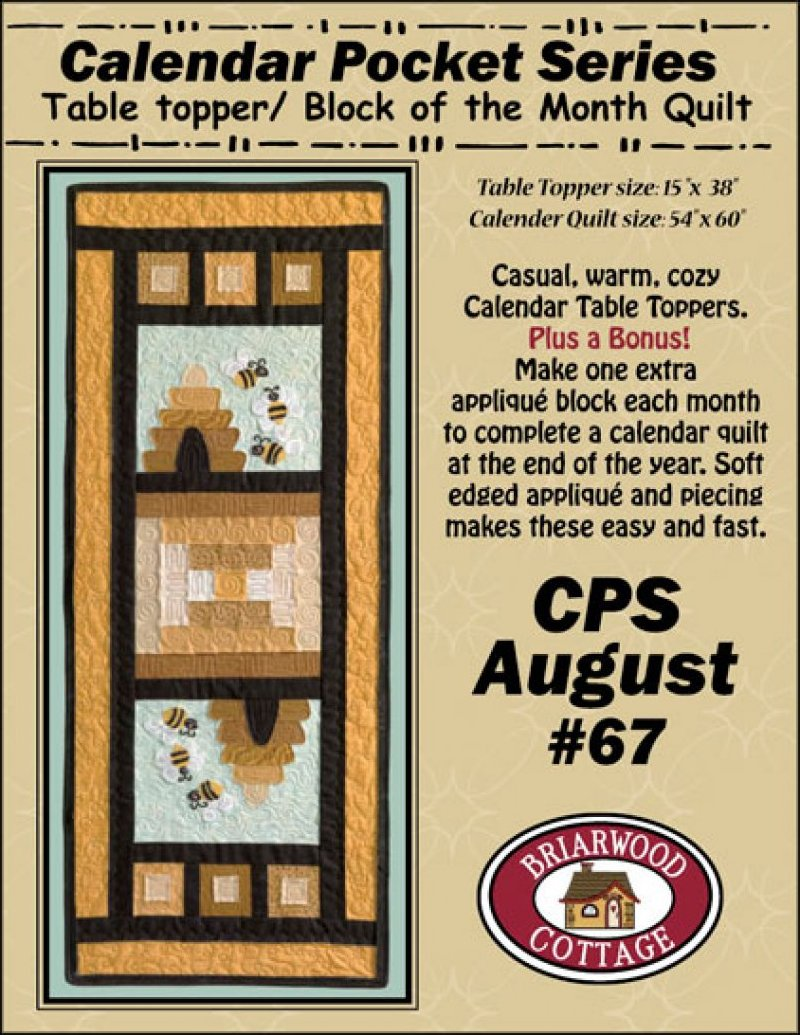Table Topper/Block of the Month - CPS August #67