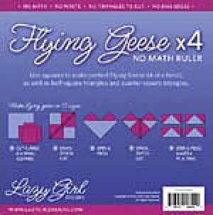 Flying Geese x 4  No Math Ruler by Lazy Girl Designs