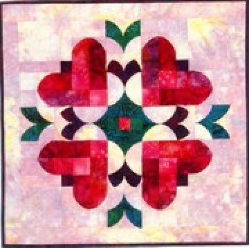 Heart to Heart Table Square or Wall Hanging Pattern - 21 1/2 x 21 1/2 - by Southwind Designs
