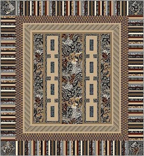 Night Storm Quilt Kit by Jean Ann Wright for Marcus Bros-77