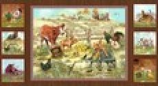 Barn Yard Babies Panel-by Spx Fabrics- 21701-Mul1