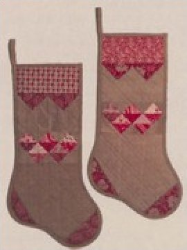 Prairie Point Stocking  Pattern by Button Stitch Designs - 9 3/4x 19 -   158