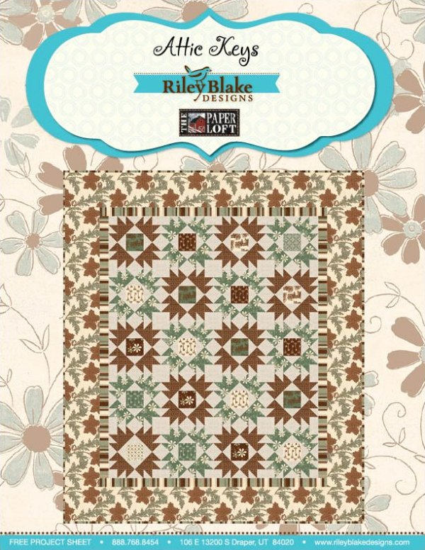 Attic Keys Quilt Kit 68x80 by Riley Blake Designs - K10593