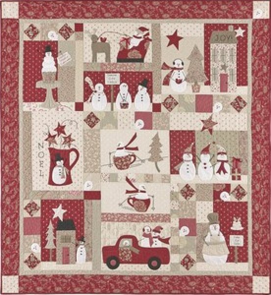 Merry, Merry Snowmen-#2035 by Bunny Hill Designs