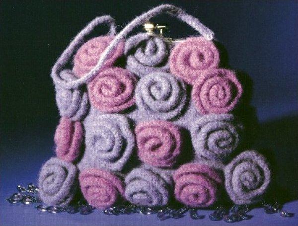 Purple Roses yarn pack