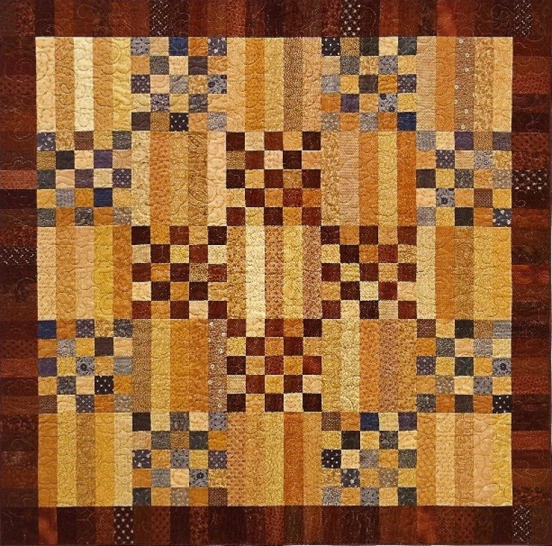 Blueberries and Butterscotch Wall Quilt