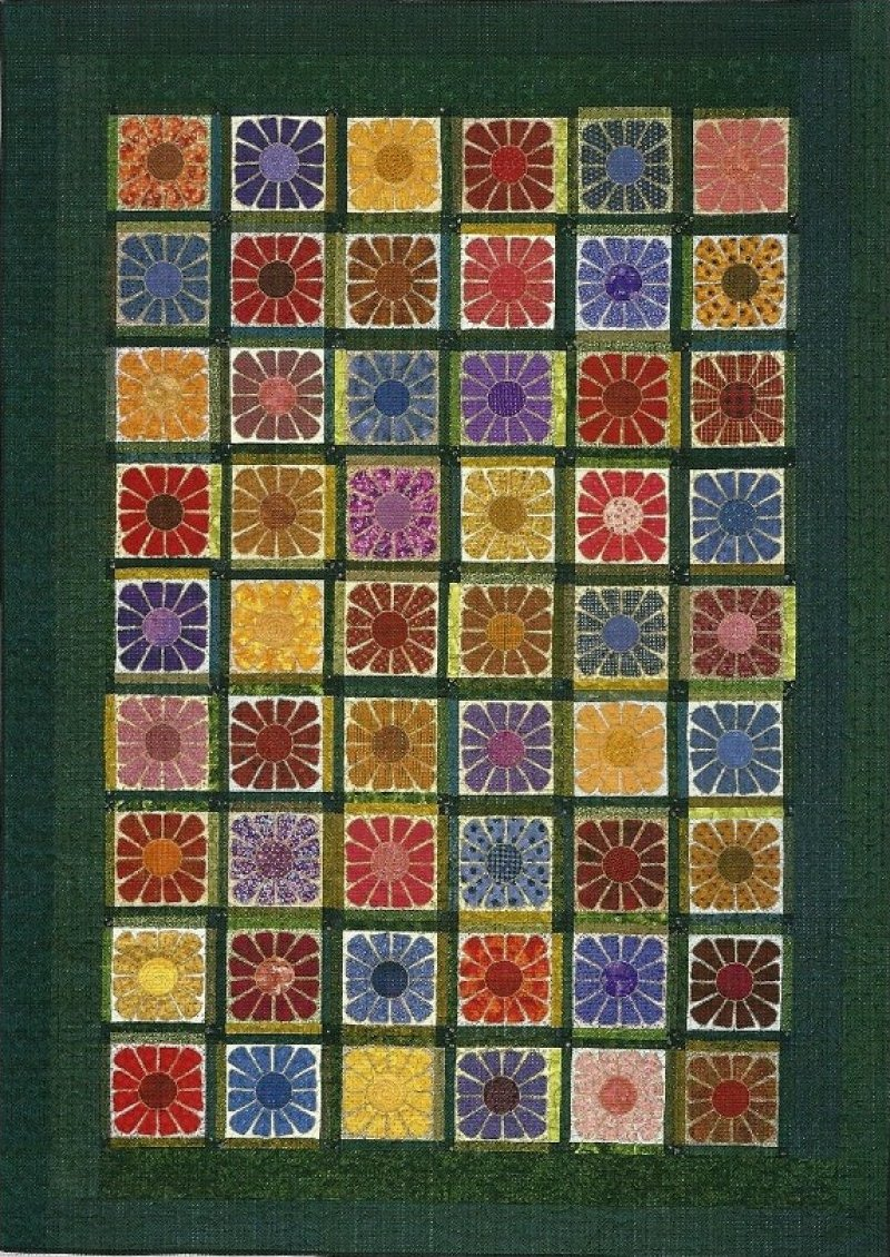 Square Flowers Lap Quilt