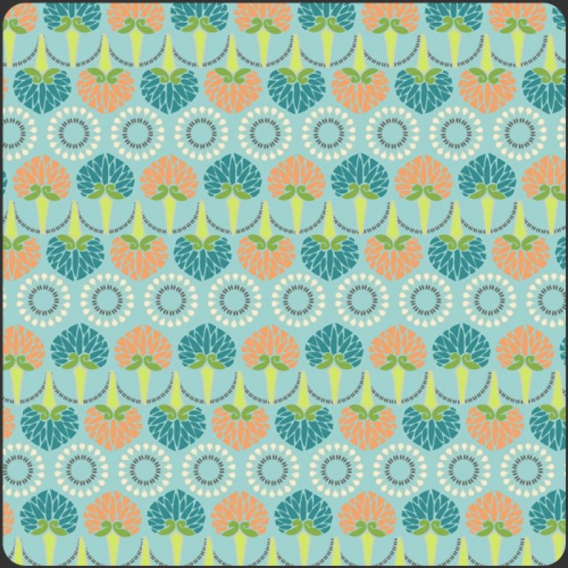 Color Splash Collection - Aqua Foliage Cascade
