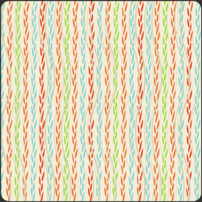 Color Splash Collection - White Leafy Ribbons