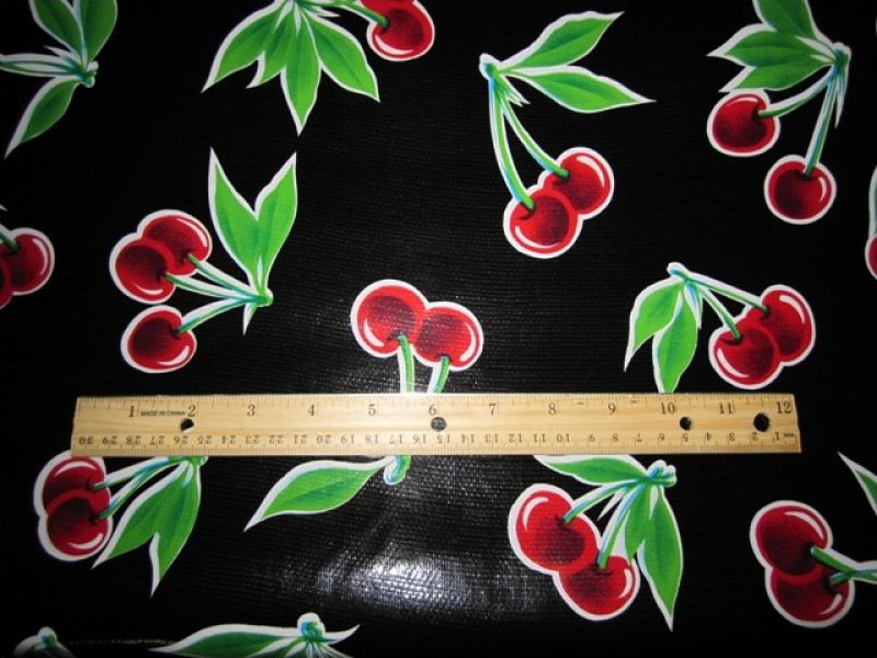 Oilcloth Collection Cherry Red & Black