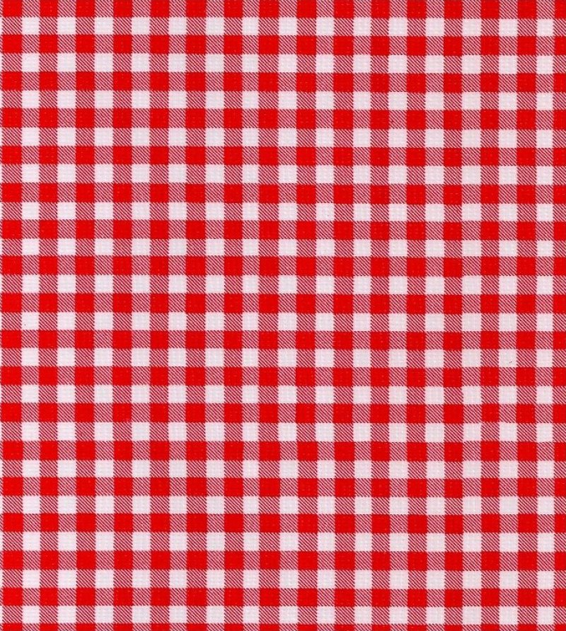 Oilcloth Collection Gingham Red & White