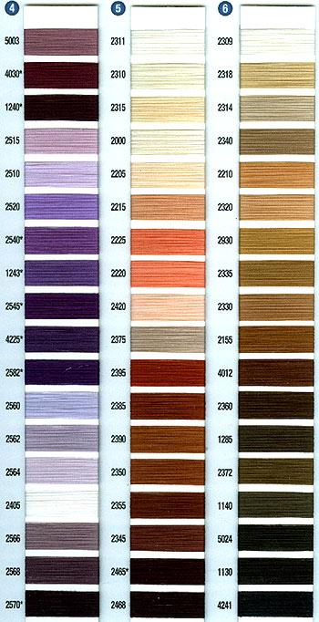Aurifil thread cotton color chart