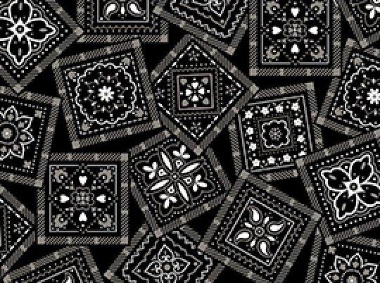 Bandana-Black & Gray