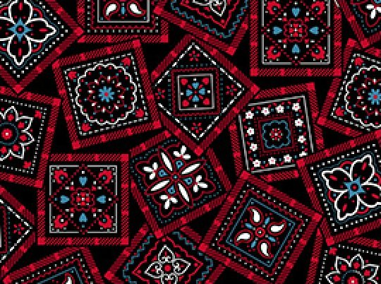 Bandana-Red/Black/Blue