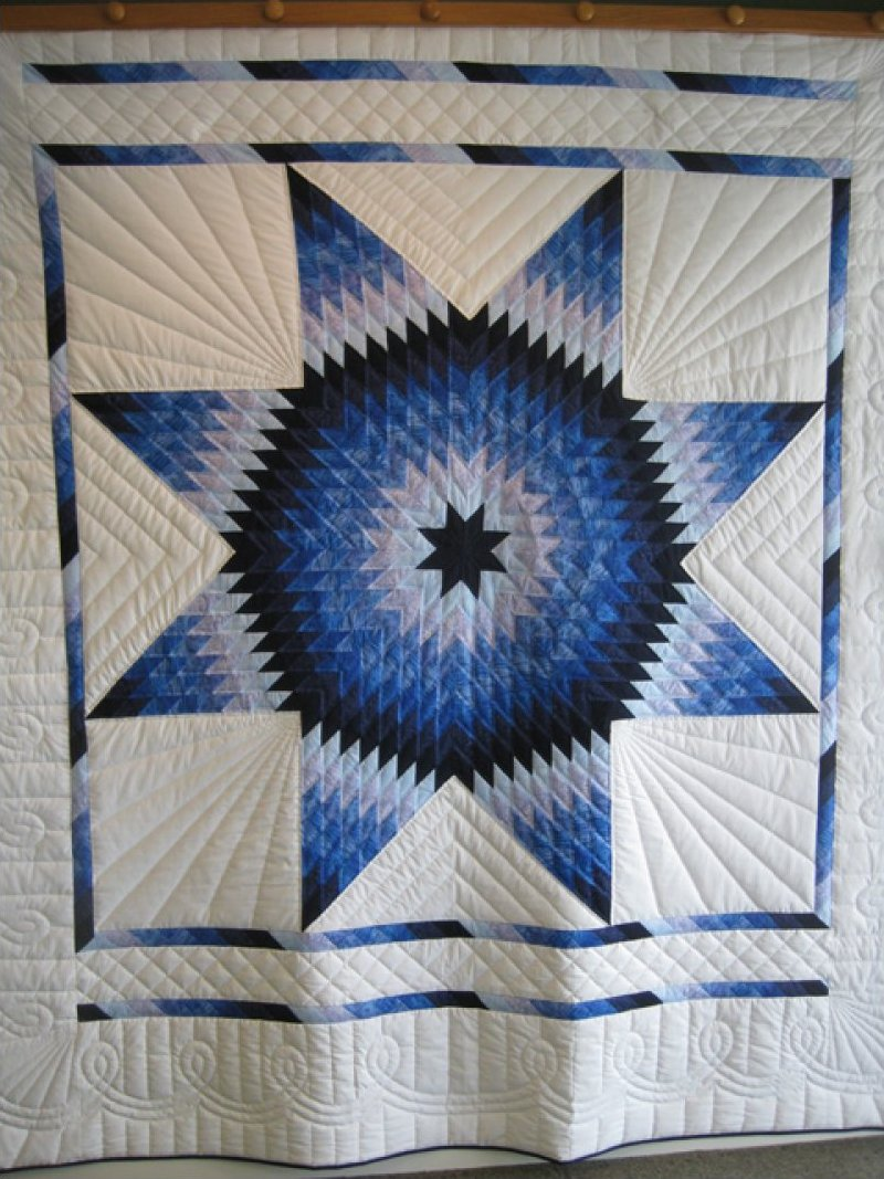Star - Hand Quilted by Amish stitchers SOLD! : lone star quilt pattern - Adamdwight.com
