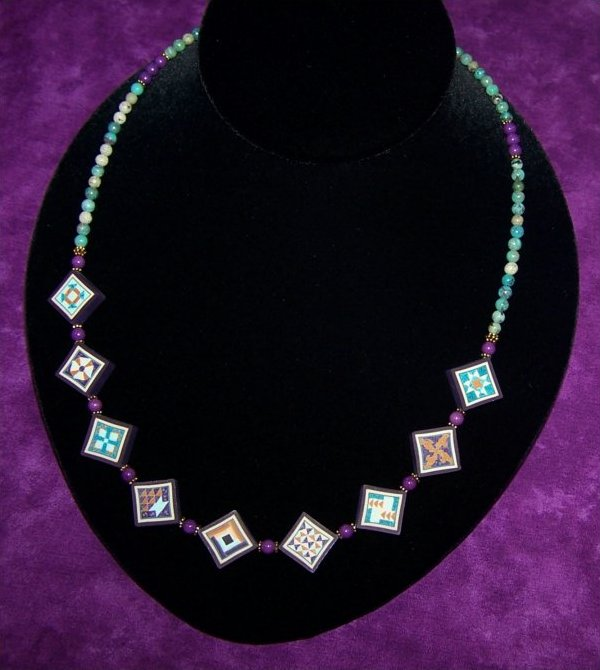 Quilted in Clay Underground R.R. Necklace - S A L E